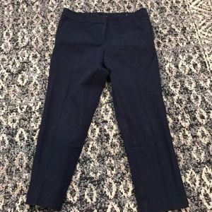 Ann Taylor Curvy Navy Blue Ankle Pants Size 4